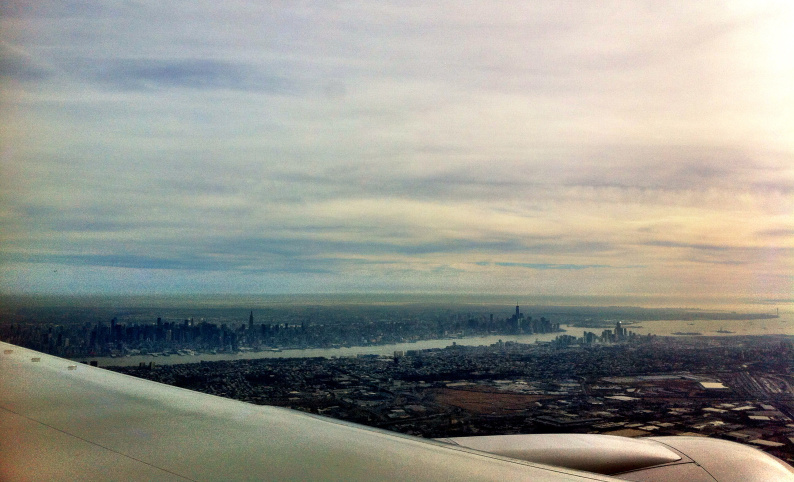 New York from the plane